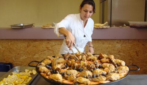 preparation paella geante